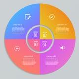 在圈子形状的Infographic模板  向量例证