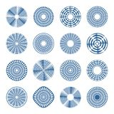 在圈子样式的箭头 背景设计要素空白四的雪花 免版税库存图片
