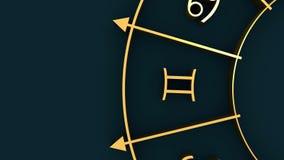 在圈子的占星术标志 皇族释放例证