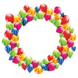 在圈子的数据条气球 免版税库存照片