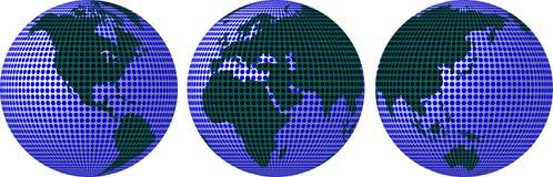 在圈子的行星地球 免版税库存图片
