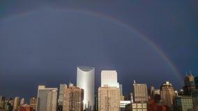 在圈的一条彩虹在芝加哥 库存照片
