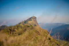 在土井星期一崇公,清迈,泰国的风景 免版税库存图片