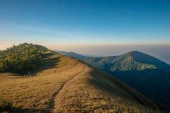 在土井星期一崇公,清迈,泰国的风景 免版税库存照片