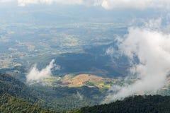 在土井inthanon,清迈,泰国的美丽的山 图库摄影