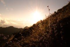 在土井Luang Chiangdao的日出 图库摄影