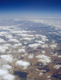 在土地的云彩 库存照片