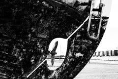 在土地的小船 免版税库存图片