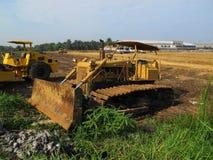 在土地的机器修造的企业建造场所的 免版税库存图片