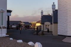 在土地` s末端的旅馆复合体在康沃尔郡,英国 库存照片