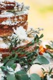 在土气样式的开胃婚宴喜饼 库存照片