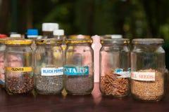 在土气样式的香料 免版税库存照片