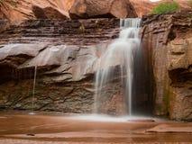 在土狼谷犹他的瀑布 图库摄影