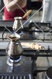 在土耳其人的咖啡 免版税库存图片