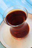 在土耳其传统玻璃的茶 图库摄影