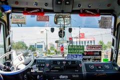 在土耳其小巴里面 免版税库存照片