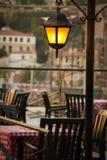 在土耳其海岸的咖啡馆 免版税图库摄影