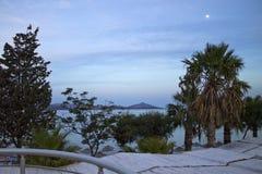 在土耳其海岸的晚上 库存照片