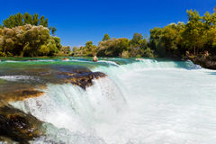 在土耳其的瀑布Manavgat 库存图片