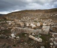 在土耳其的石头废墟 图库摄影