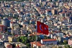 在土耳其的alanya标志 库存照片