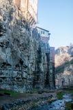 在土耳其浴附近的瀑布峡谷 免版税库存照片
