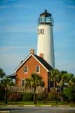 在圣乔治海岛,佛罗里达的灯塔 库存照片
