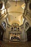 在圣乔治Maggiore教会里面的超级宽看法在威尼斯 免版税库存照片