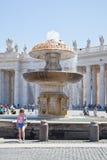在圣伯多禄正方形  梵蒂冈 库存照片