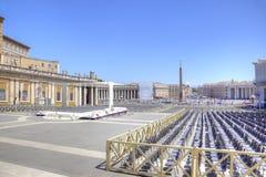 在圣伯多禄正方形  梵蒂冈 免版税库存照片