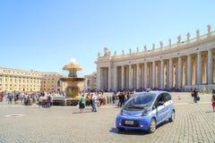 在圣伯多禄正方形  梵蒂冈 库存图片