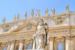 在圣伯多禄正方形  梵蒂冈 免版税图库摄影