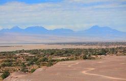 在圣佩德罗火山de阿塔卡马(智利)附近的风景 图库摄影