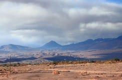 在圣佩德罗火山de阿塔卡马(智利)附近的风景 免版税库存图片
