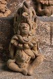 在圣佩德罗火山la拉古纳危地马拉的古老玛雅人雕象特写镜头 库存照片