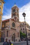 在圣保罗附近的人们墙壁的主教制度的教会,罗马,意大利 库存照片