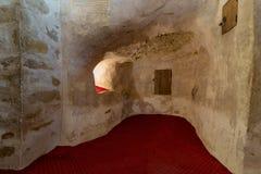 在圣保罗&圣亦称陷下Mercurius,圣保罗修道院教会老虎的带状闪长岩修道院,埃及 库存照片