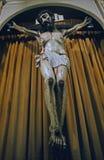 在圣克拉拉使命,加州的耶稣受难象 库存图片