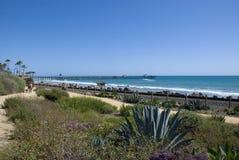 在圣克莱芒特,橘郡-加利福尼亚的太平洋海岸 免版税图库摄影