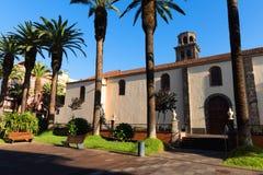 在圣克里斯托瓦尔de la拉古纳的建筑细节 库存图片