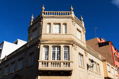 在圣克里斯托瓦尔de la拉古纳的建筑细节 库存照片