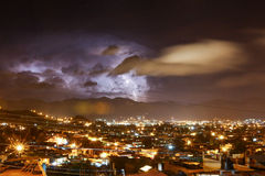 在圣克里斯托瓦尔de Las卡萨什的雷暴 库存图片
