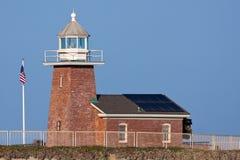 在圣克鲁斯加利福尼亚标记Abbott纪念灯塔 免版税库存照片