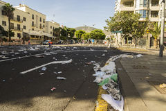 在街道的垃圾 免版税库存照片
