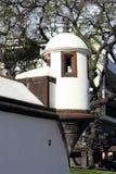 在圣劳伦斯湾堡垒的壁角塔在马德拉岛的丰沙尔 免版税库存照片