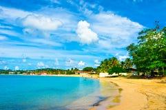在圣卢西亚的美丽的海滩 图库摄影