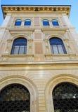 在圣后Petronio大教堂的重要大厦在波隆纳在市中心在伊米莉亚罗马甘(意大利) 免版税库存图片