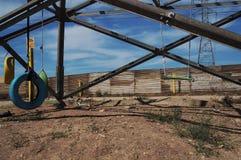 在圣地亚哥和提华纳之间的篱芭 库存图片