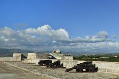 在圣地亚哥附近的堡垒在古巴 免版税图库摄影