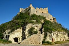 在圣地亚哥附近的堡垒在古巴 库存照片